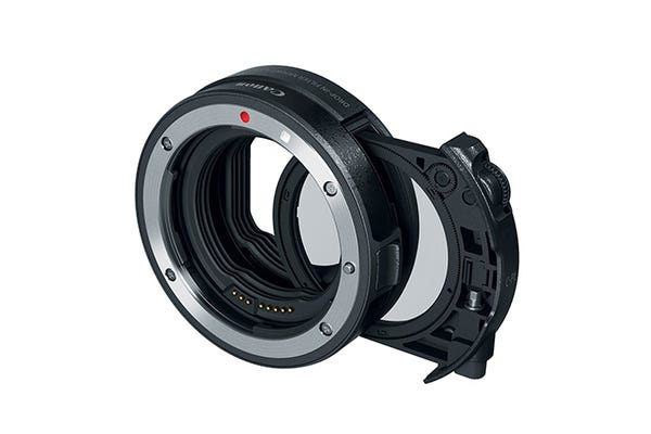 Canon Drop in Filter Mount Adapter EF-EOSR with CPL Filter