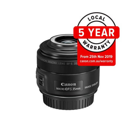 Canon EF-S 35mm f/2.8 IS STM Macro Lens w/ Macro Lite