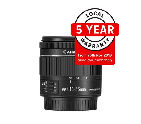Canon EFS 18-55mm f/4.0-5.6 IS STM Lens