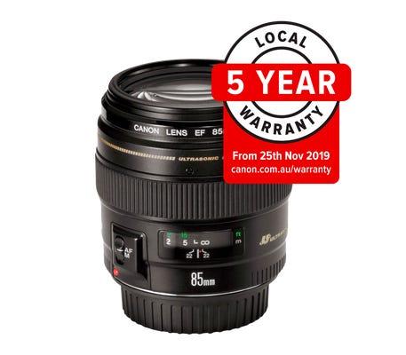 Canon EF 85mm f/1.8 USM Telephoto Lens