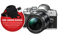 Olympus OM-D E-M10 Mark IV Slv w/14-150mm BONUS Bag, Cleaning Cloth & SD Card Holder