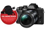 Olympus OM-D E-M10 Mark IV Blk w/14-150mm BONUS Bag, Cleaning Cloth & SD Card Holder