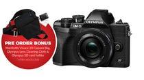 Olympus OM-D E-M10 Mark IV Blk w/14-42 EZ BONUS Bag, Cleaning Cloth & SD Card Holder