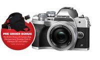 Olympus OM-D E-M10 Mark IV Slv w/14-42 EZ BONUS Bag, Cleaning Cloth & SD Card Holder
