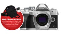 Olympus OM-D E-M10 Mark IV Silver Body BONUS Bag, Cleaning Cloth, SD Card Holder