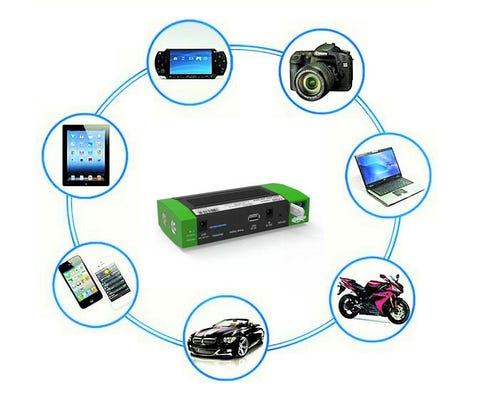 Digitalk Emergency Portable Multi Function Battery Charger with Jump Starter