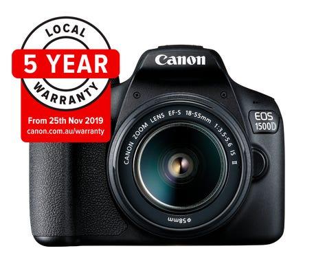 Canon EOS 1500D w/EF-S 18-55mm III Lens - Digital SLR Camera