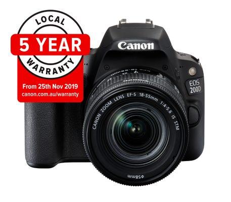 Canon EOS 200D Mark II w/EF-S 18-55mm f/4-5.6 IS STM Lens Digital SLR Camera