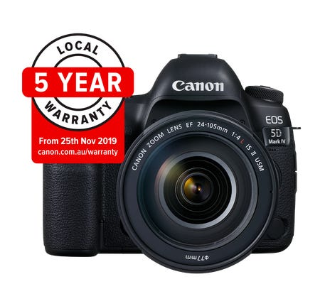 Canon EOS 5D Mark IV w/ EF 24- 105mm LISII Lens Digital SLR Camera