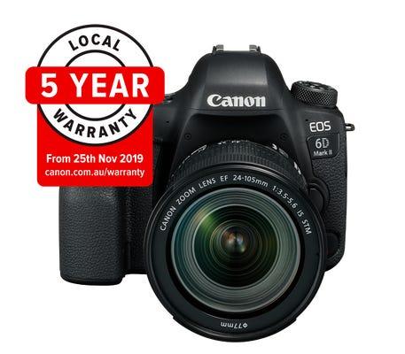Canon EOS 6D Mark II w/EF 24- 105mm IS STM Lens Digital SLR Camera