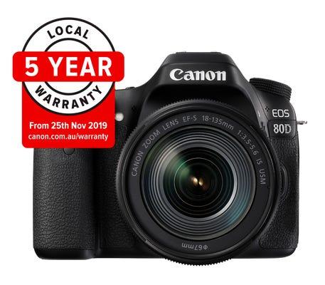 Canon EOS 80D w/ EF-S 18-135mm IS USM Lens Digital SLR Camera