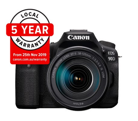 Canon EOS 90D w/ EF-S 18-135mm IS USM & EF 50mm f1.8 Lens Digital SLR Camera
