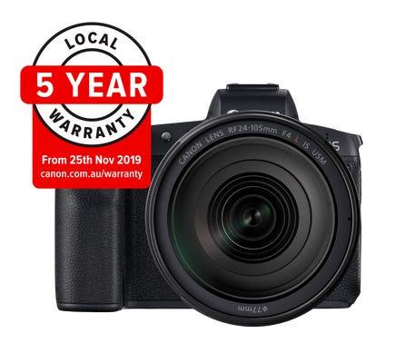 Canon EOS R Body w/RF 24-105mm f/4L IS USM Lens Full Frame Mirrorless Camera