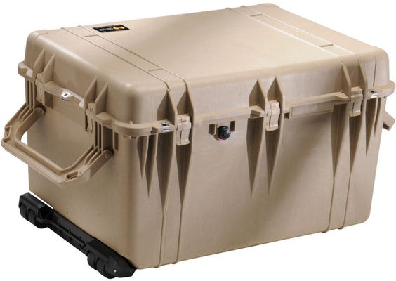 Pelican 1660 Desert Tan Case with Padded Dividers