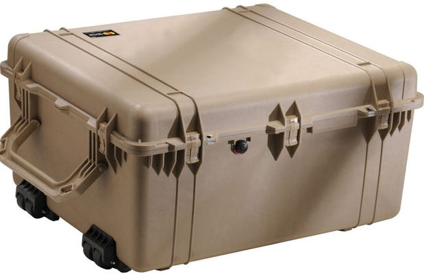 Pelican 1690 Desert Tan Case with Padded Dividers