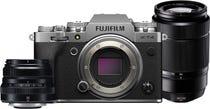 FujiFilm X-T4 Body Silver w/XF 35mm f2 R WR Lens & XC50-230mm f4.5-6.7 Lens CS Camera