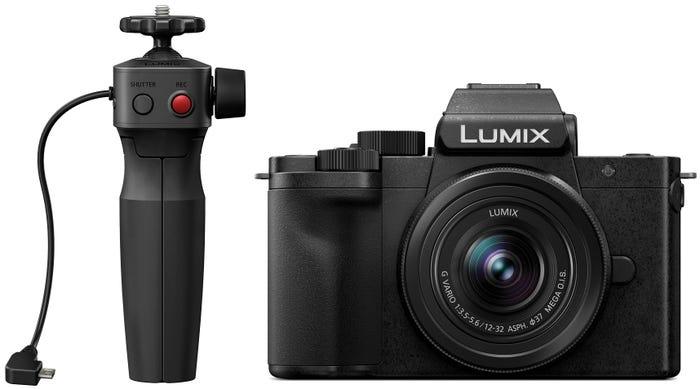 Panasonic Lumix G100 w/12-32mm f3.5-5.6 Lens & Tripod Grip Compact System Camera