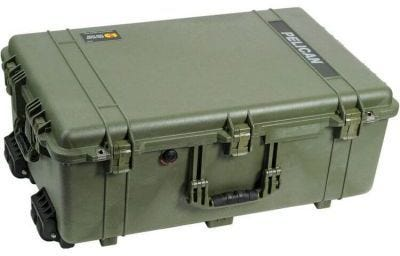 Pelican 1650 Olive Green Case with Padded Dividers