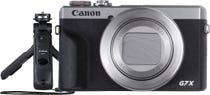 Canon PowerShot G7XIII Silver w/HG-100TBR Tripod Grip & Bluetooth Remote