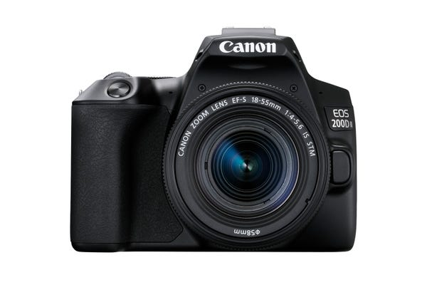 Canon EOS 200D Mark II w/EFS 18-55mm f/4-5.6IS STM,55-250mm f/4-5.6IS STM Lens DSLR Camera