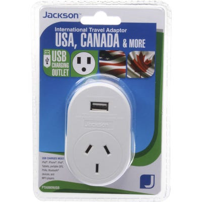 Jackson Outbound USB Travel Adaptor -USA