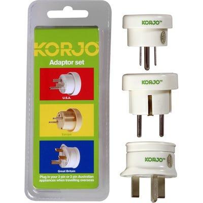 Korjo Adapter Set - Europe, Great Britain & USA