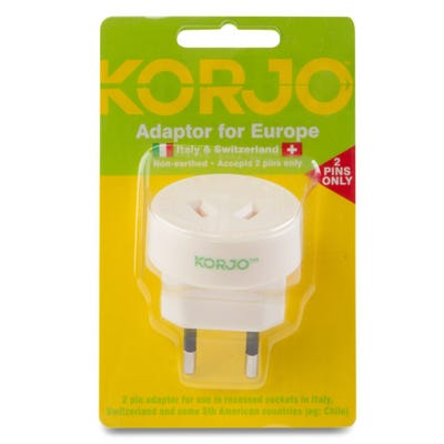 Korjo Adaptor Europe - Italy/ Swiss