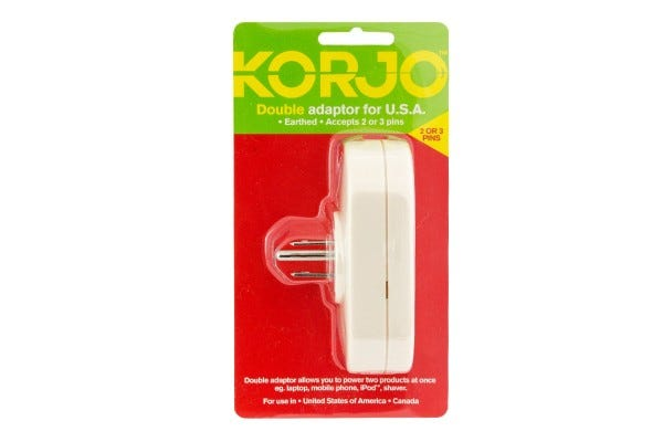 Korjo Double Adapter for USA