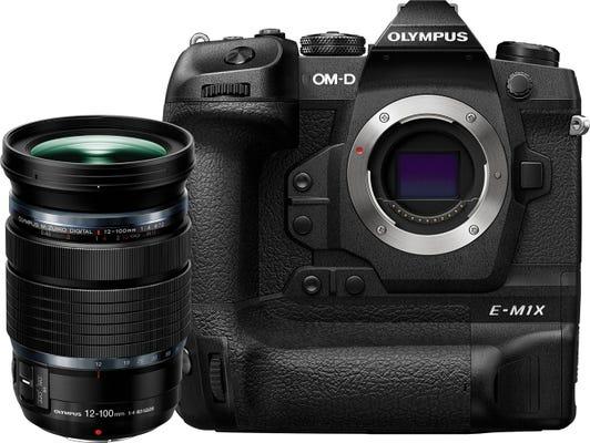 Olympus OM-D E-M1X Black w/ 12-100mm f/4 Pro Black Lens Compact System Camera