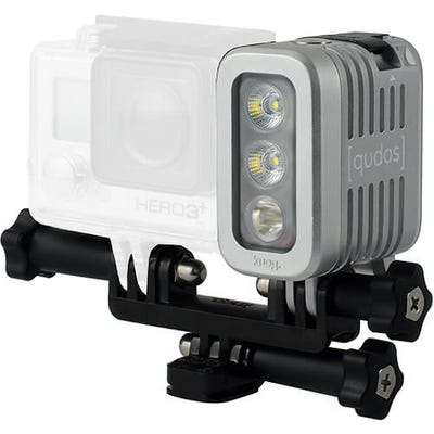 Knog Qudos Waterproof Action Light - Silver