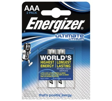 Energizer AAA Lithium Battery - 2 Pack