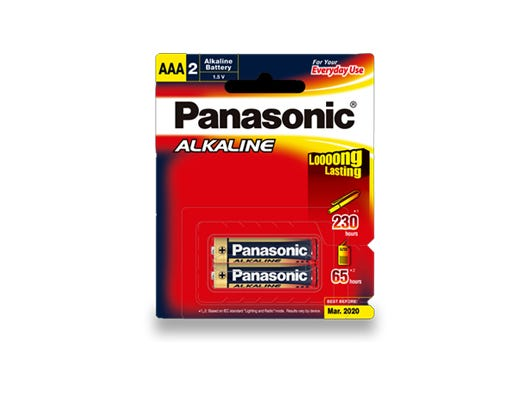 Panasonic AAA 2 Pack Alkaline Battery