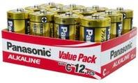 Panasonic C Size 12 Pack Alkaline Battery