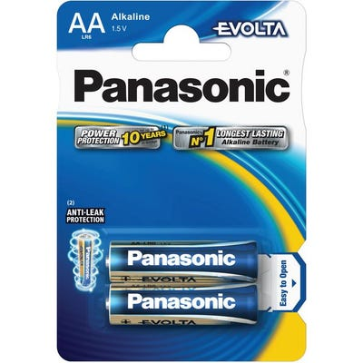 Panasonic Evolta AA  2 Pack Premium Alkaline Battery