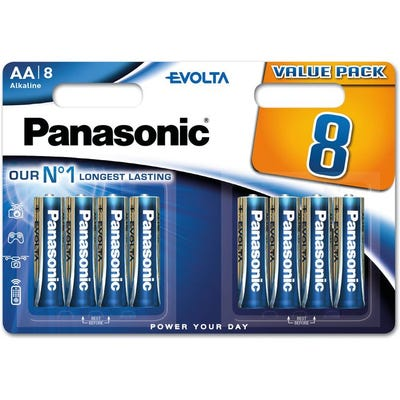 Panasonic Evolta AA  8pk Alkaline Battery
