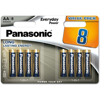 Panasonic AA 8 Pack Alkaline Battery