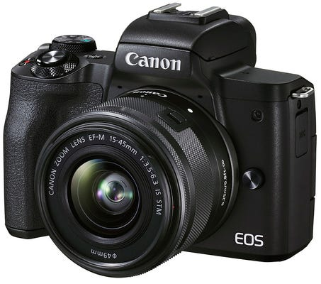Canon EOS M50 Mark II w/EFM15-45mm f3.5-6.3 IS STM Lens Compact System Camera
