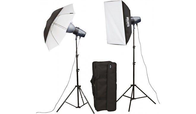 Metz Mecastudio BL-200 SB/UM-II Twin Head Studio Lighting Kit