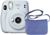 Fujifilm Instax Mini 11 Instant Camera - Ice White with Chambray Bag