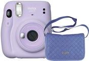Fujifilm Instax Mini 11 Instant Camera - Lilac Purple with Chambray Bag