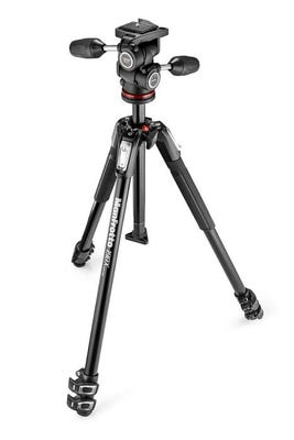Manfrotto MK190X3-3W1 3 Section - Tripod Kit with 3 Way Head