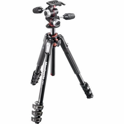 Manfrotto MK190XPRO4-3W 4 Section - Tripod Kit with 3 Way Head