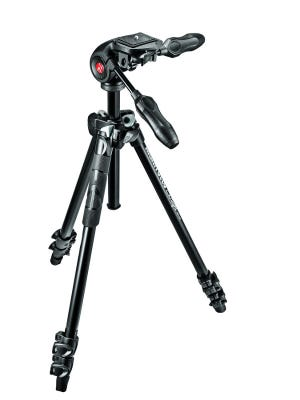Manfrotto MK290LTA3-3W 3 Section - Tripod Kit with 3 Way Head