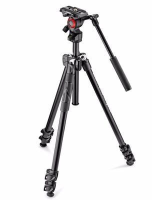 Manfrotto MK290LTA3-V 3 Section - Tripod Kit with Fluid Video Head