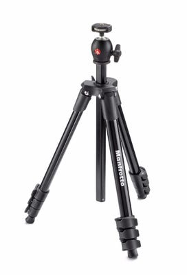 Manfrotto MKCOMPACTLT-BK Compact Light - Black Tripod with Ball Head & Carry Bag