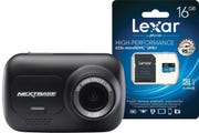 Nextbase 122 Dash Cam w/BONUS Lexar 16GB MicroSDHC High Performance Memory Card