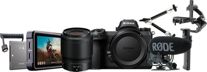 Nikon Z 6 Film Maker Kit inc Z50mmf1.8, MOZA Air 2 Gimbal, Ninja V & Rode VMP+ Mic