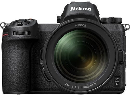 Nikon Z 6 Full Frame Mirrorless Camera w/Nikkor Z 24-70mm f/4 S Lens