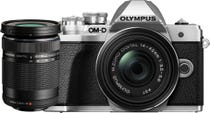 Olympus OM-D E-M10 Mark III Silver w/14-42mm & 40-150mm EZ Lens Compact System Camera