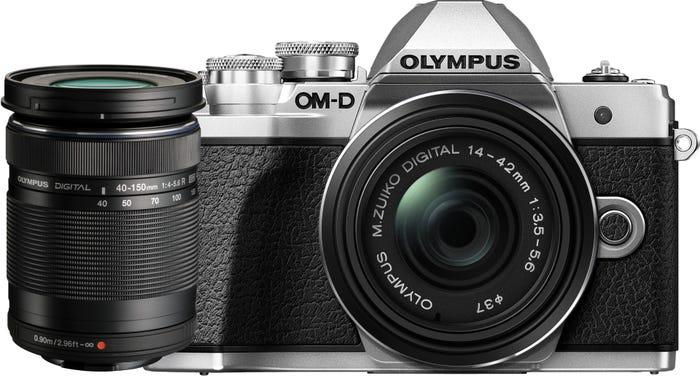 Olympus OM-D E-M10 Mark III Silver w/14-42mm & 40-150mm EZ Lens Compact System Camera